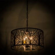 Meyda Tiffany 163607 Winter Maple Oil Rubbed Bronze Pendant Hanging Light