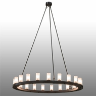 Meyda Tiffany 163644 Loxley Modern Timeless Bronze Clear Frosted Glass Ceiling Chandelier