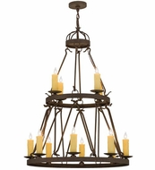 Meyda Tiffany 163692 Lakeshore Gilded Tobacco Chandelier Lamp