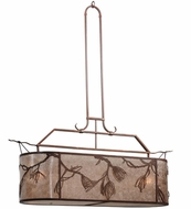 Meyda Tiffany 163765 Lone Pine Country Cafe Noir-Rust/Silver Amber Mica Kitchen Island Light Fixture
