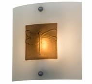Meyda Tiffany 163785 Metro Fusion Wings Contemporary Clear/Bronze Bas Relief Dragonfly Wall Lighting