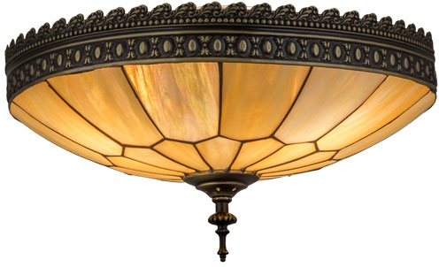 best cheap 21178 c0a44 Meyda Tiffany 163939 Vincent Honeycomb Brown Highlighted Flush Ceiling  Light Fixture