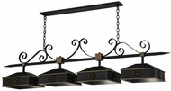 Meyda Tiffany 164063 Stefano Blackwash w/ Gold Accents Island Lighting
