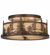Meyda Tiffany 164390 Tall Pines Antique Copper/Bleached Honey Onyx Overhead Lighting Fixture