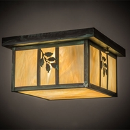 Meyda Tiffany 165191 Hyde Park Sprig Rustic Bai Verd Overhead Lighting