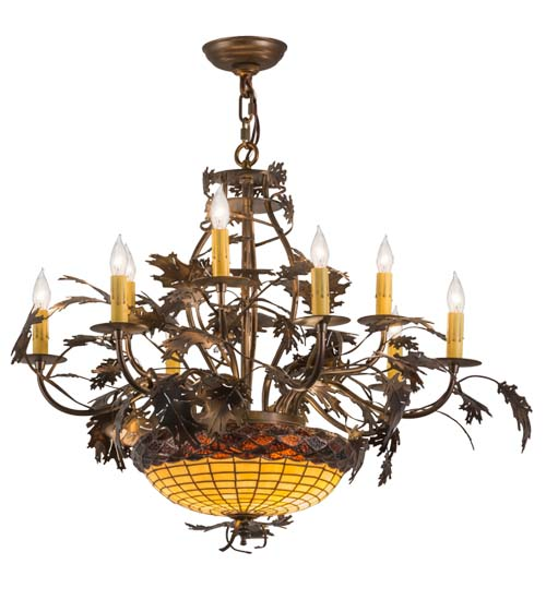 Meyda Tiffany 165485 Greenbriar Oak Country Antique Copper Burnished Lighting Chandelier. Loading zoom  sc 1 st  Affordable L&s & Meyda Tiffany 165485 Greenbriar Oak Country Antique Copper Burnished ...