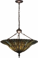 Meyda Tiffany 166263 Tiffany Lotus Leaf Tiffany Green / Blue Drop Lighting Fixture
