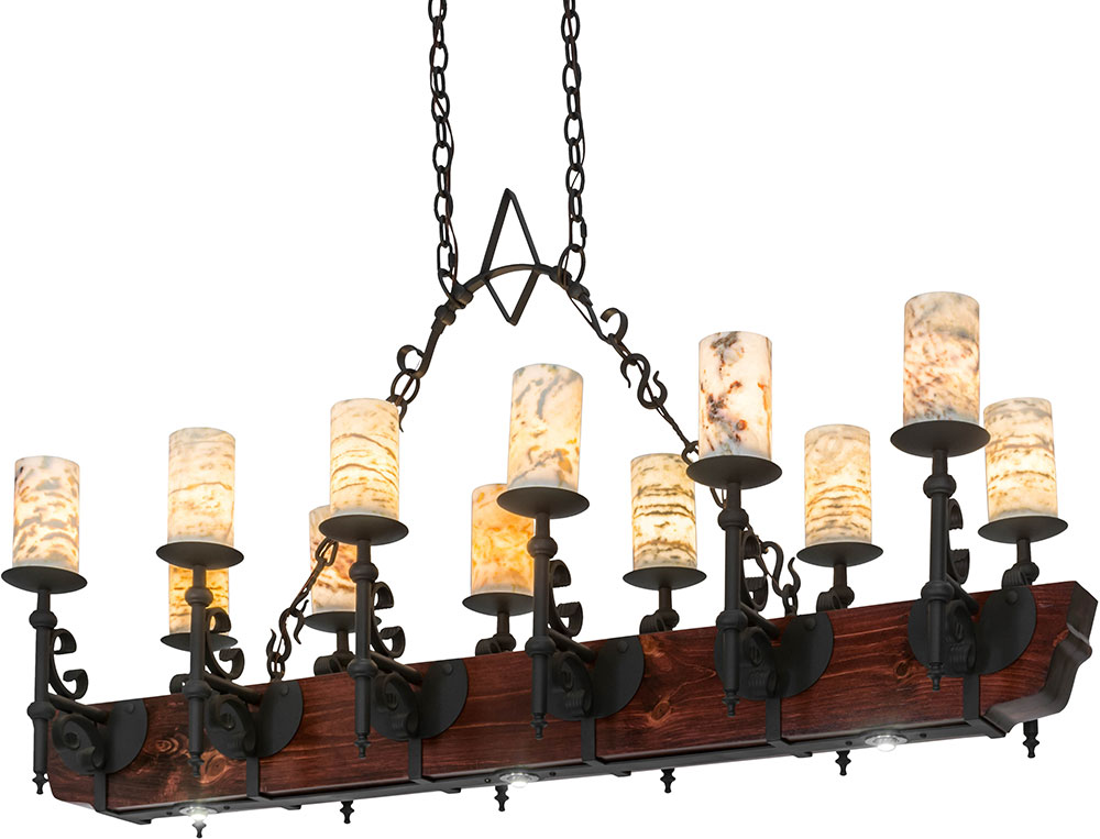 Meyda Tiffany 167878 Tudor Jadestone Wrought Iron Wood Body Led Kitchen Island Light Loading Zoom