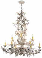 Meyda Tiffany 167974 Le Printemps Contemporary Tuscan Ivory Ceiling Chandelier