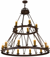 Meyda Tiffany 169258 Lakeshore Antique Rust Chandelier Light