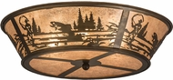 Meyda Tiffany 169329 Fly Fishing Creek Country Silver Mica Ceiling Light Fixture