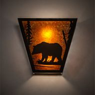 Meyda Tiffany 169334 Bear Creek Rustic Timeless Bronze Wall Sconce Lighting
