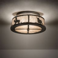 Meyda Tiffany 169798 Cowboy & Steer Country Timeless Bronze Ceiling Lighting Fixture