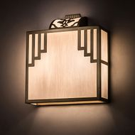 Meyda Tiffany 169907 Spire Natural Brass Wall Light Sconce