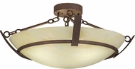 Meyda Tiffany 170000 Covina Antique Rust Fluorescent Flush Lighting