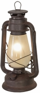 Meyda Tiffany 170032 Miner's Lantern Rustic Rust Table Lamp