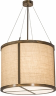 Meyda Tiffany 170893 Cilindro Antique Copper Drum Hanging Light Fixture