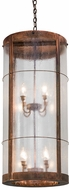 Meyda Tiffany 171566 Villa Seedy Glass Vintage Copper Exterior Ceiling Pendant Light