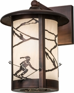 Meyda Tiffany 172123 Fulton Alpine Country Antique Copper Exterior Wall Sconce Light