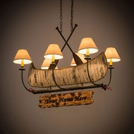 Meyda Tiffany 172241 Personalized Canoe Country Tarnished Copper Kitchen Island Light
