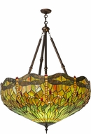 Meyda Tiffany 172706 Tiffany Hanginghead Dragonfly Tiffany Orange Red Hanging Light