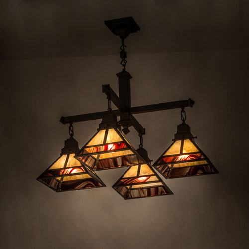 Meyda Tiffany 173176 T Mission Craftsman Brown Chandelier Lighting