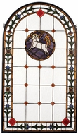 Meyda Tiffany 17367 Lamb of God Tiffany Stained Glass Window