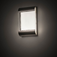 Meyda Tiffany 174020 Limoux Contemporary Polished Nickel Clear Glass / Frosted Acrylic LED Wall Lamp