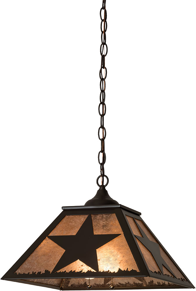 Meyda Tiffany 174699 Texas Star Timeless Bronze / Silver Mica Hanging Pendant Lighting. Loading zoom  sc 1 st  Affordable L&s & Meyda Tiffany 174699 Texas Star Timeless Bronze / Silver Mica ...