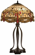 Meyda Tiffany 17500 Tiffany Hanginghead Dragonfly Tiffany Side Table Lamp
