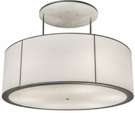 Meyda Tiffany 175109 Cilindro Contemporary Nickel Drum Drop Ceiling Light Fixture