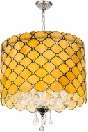Meyda Tiffany 175299 Giacomo Gatsby Contemporary Beige Clear Drum Drop Lighting Fixture