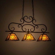 Meyda Tiffany 175712 Bandolei Mahogany Bronze / Amber Mica Kitchen Island Light Fixture