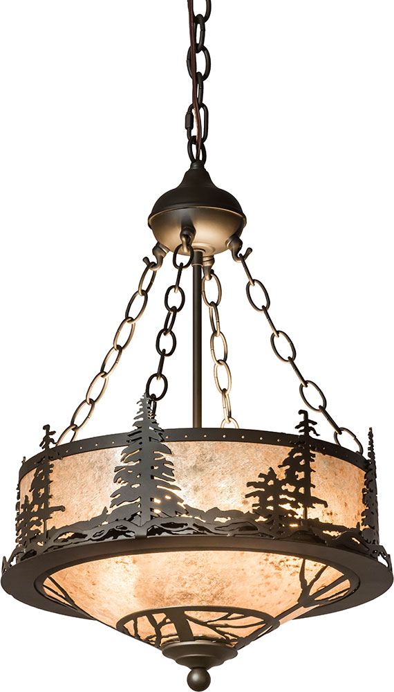 Meyda Tiffany 175906 Tall Pines Country Oil Rubbed Bronze / Silver ...