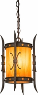 Meyda Tiffany 176792 Stanza Contemporary Gilded Tobacco / New Mica Acrylic Mini Drop Ceiling Light Fixture