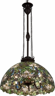 Meyda Tiffany 176967 Trillium & Violet Tiffany Pendant Lighting