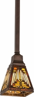 Meyda Tiffany 177366 Nuevo Mission Tiffany Mahogany Bronze Mini Hanging Pendant Light