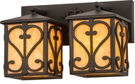 Meyda Tiffany 177782 Wrought Iron Vanity Light Fixture