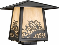 Meyda Tiffany 177917 Apple Branch Exterior Oil Rubbed Bronze Bleached Honey Onyx Acrylic Outdoor Post Mount