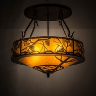 Meyda Tiffany 178194 Whispering Pines Country Copper Vein / Amber Mica Drop Lighting Fixture
