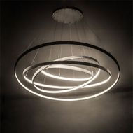 Meyda Tiffany 178454 Anillo Modern Matte Clear LED Hanging Light Fixture