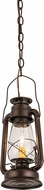 Meyda Tiffany 178541 Miner's Lantern Traditional Mahogany Bronze Mini Pendant Lamp