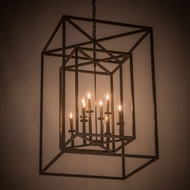 Meyda Tiffany 178759 Kitzi Box Contemporary Timeless Bronze Foyer Lighting