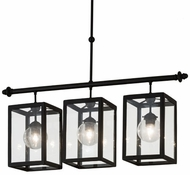 Meyda Tiffany 179150 Quadrato Bloc Textured Black Clear Glass Kitchen Island Lighting