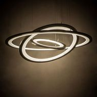 Meyda Tiffany 179176 Anillo Contemporary Bronze LED Hanging Pendant Light