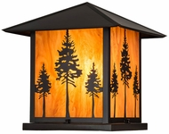 Meyda Tiffany 179596 Great Pines Ambra Sienna Acylic Craftsman Brown Exterior Pier Mount