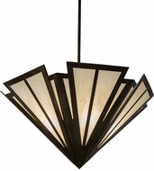 Meyda Tiffany 179808 Brum Contemporary Antique Copper Bleached Honey Onyx Acrylic Drop Lighting