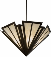 Meyda Tiffany 179811 Brum Modern Antique Copper Bleached Honey Onyx Acrylic Drop Ceiling Lighting