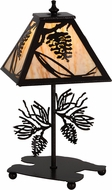 Meyda Tiffany 180439 Whispering Pines Country Copper Vein Natural Horn Acrylic Accent Light