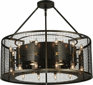 Meyda Tiffany 180606 Paloma Golpe Contemporary Drum Pendant Light Fixture